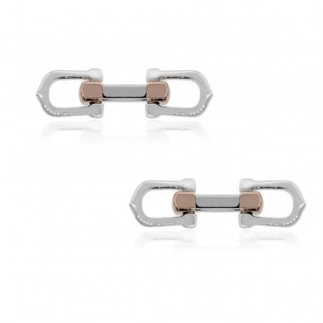 Cartier Two Tone Cuff Links