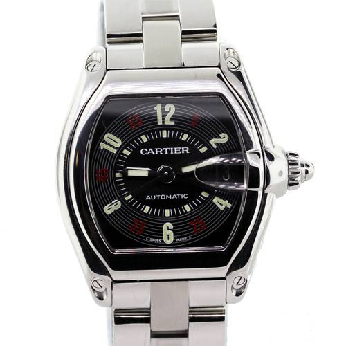 Cartier Roadster black dial, preowned black dial cartier roadster, used cartier roadster