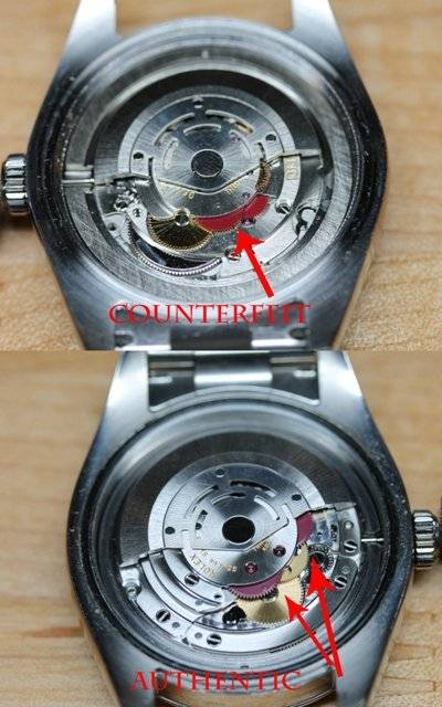 how to tell real rolex watches from fakes