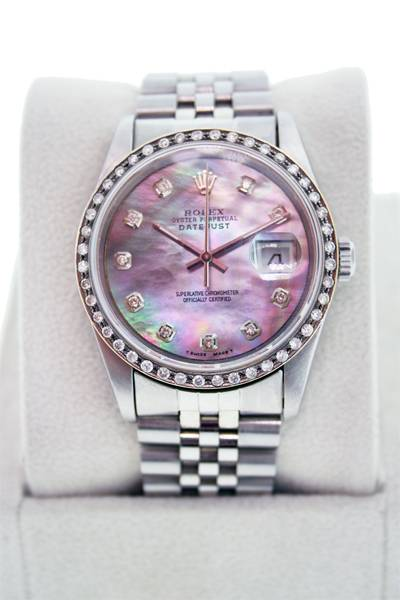 rolex datejust mother of pearl dial, preowned rolex datejust, used rolex, rolex boca