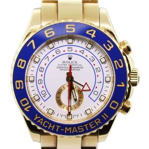 Rolex Yachtmaster II 116688 18K Yellow Gold Watch, preowned rolex yachtmaster