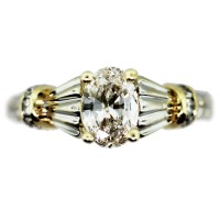 Oval Diamond Engagement Ring .70ct