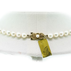 Pre-owned Mikimoto Akoya Cultured Pearl Necklace