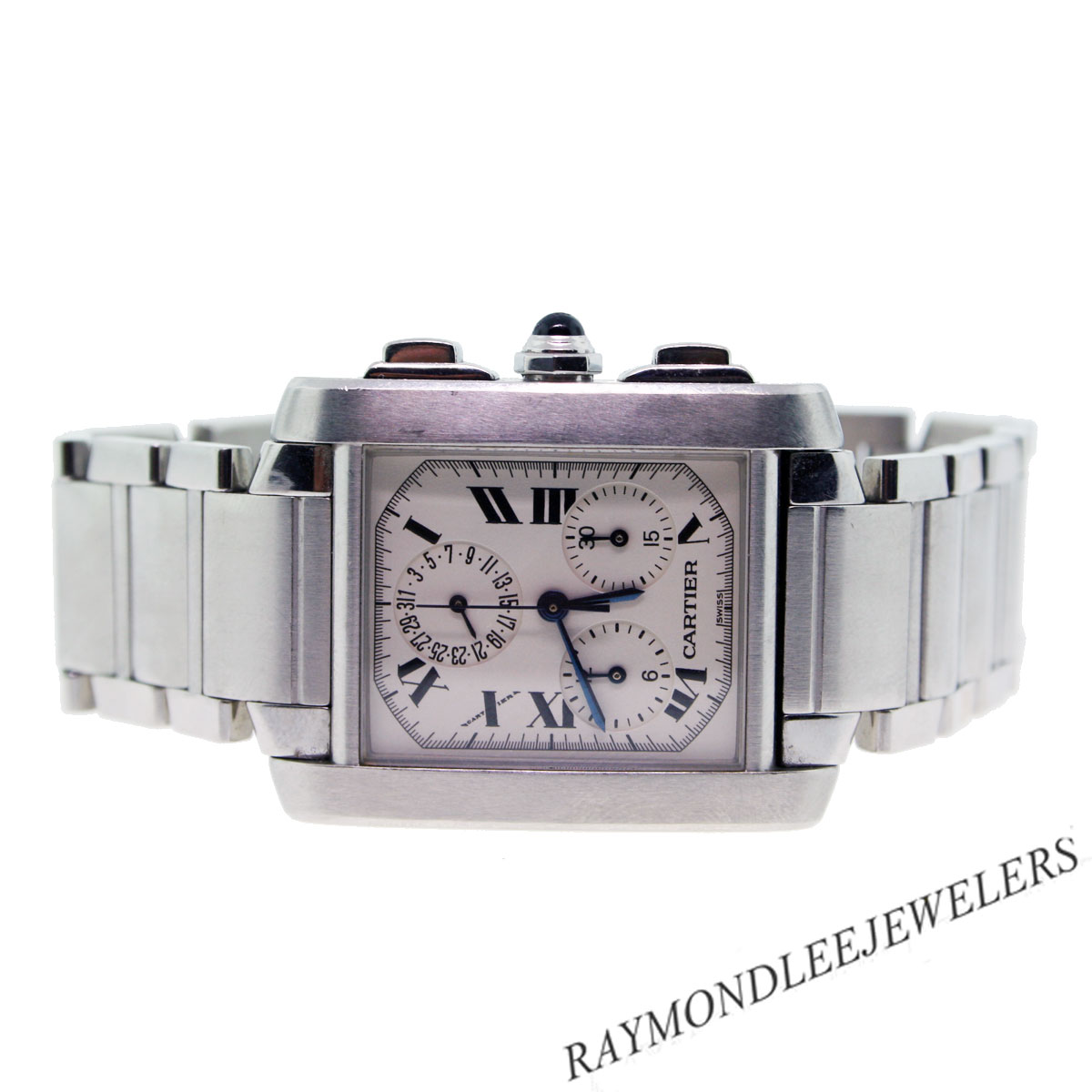 pre owned cartier tank w51001q3 chronograph mens