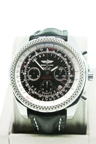 used breitling for bentley a25362 black mens