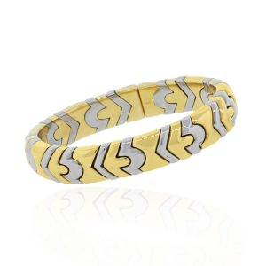 You are viewing this Bulgari Bvlgari Two Tone 18K Gold Cuff Bracelet!