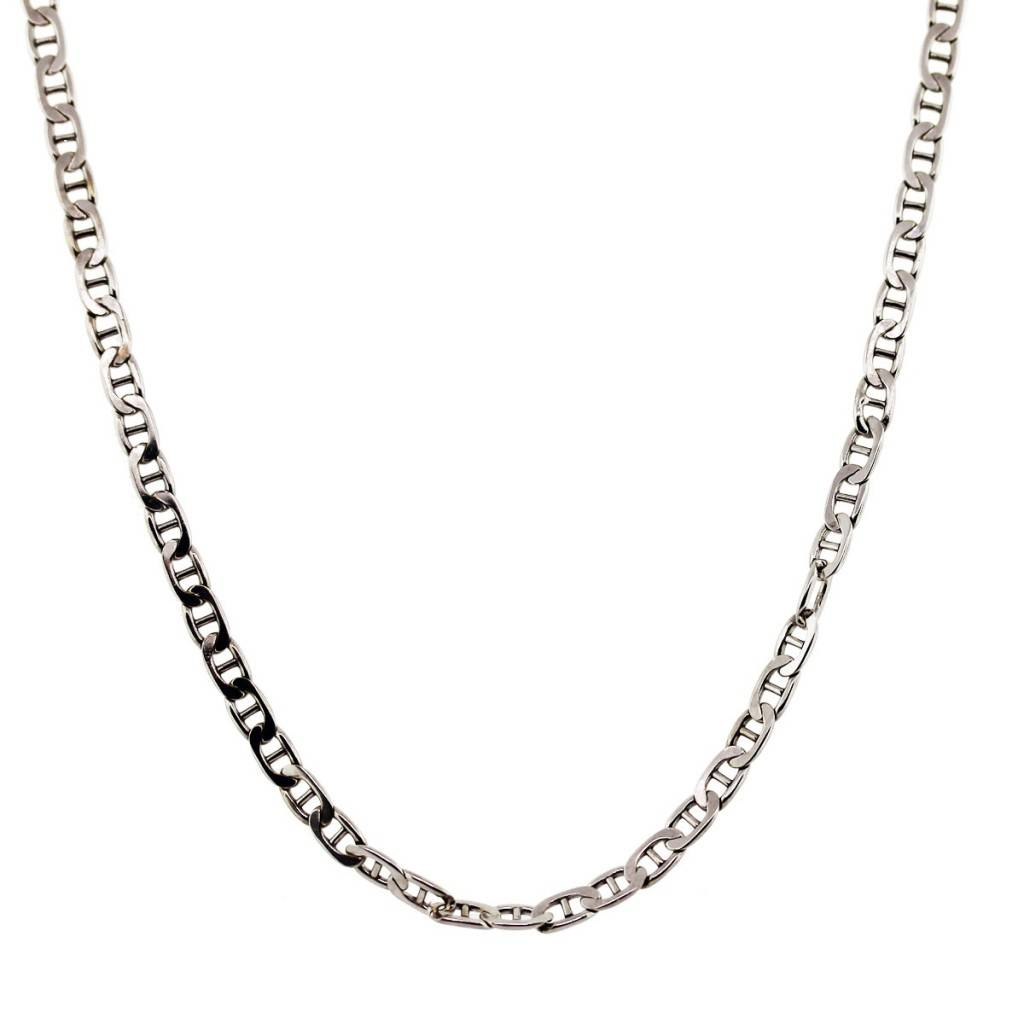 Gucci Link Chain >> 14k White Gold Gucci Link Chain Necklace Raymond Lee Jewelers