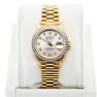 Used Rolex 18K Presidential 69178 Oyster Diamond Dial Ladies Watch