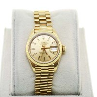 Rolex 18K Yellow Gold Ladies Presidential 69178 Champagne Dial Watch