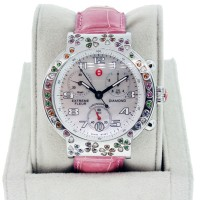Michele Fleur Extreme MW04A13 Ladies Stainless Steel Watch with Diamonds and Semi-Precious Gemstones