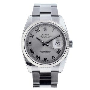 Rolex Datejust 116234 Men's Rhodium Dial Watch