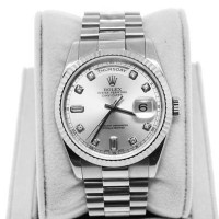 Rolex Day Date 18K WG Presidential 118239 Diamond Dial Gents Watch