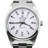 Pre-Owned Rolex Stainless Steel Air-King 14000 Men's White Dial Watch