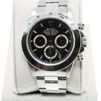 Used Rolex Daytona 16520 Stainless Steel Black Dial Watch