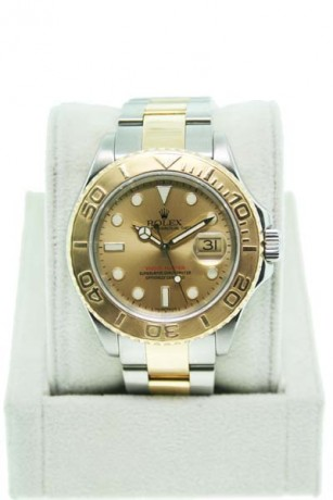 Pre-Owned Rolex Yachtmaster Two Tone 16623 Champagne dial Gents Watch