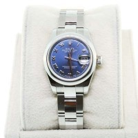 Rolex Datejust 179160 Ladies Oyster Perpetual Blue Roman Numeral Watch