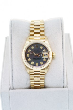 Rolex Datejust 69178 18K Gold Tahitian Mother of Pearl Diamond Dial
