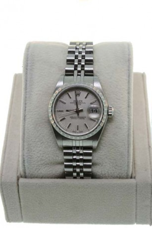 Rolex Date 70240 Stainless Steel Oyster Tapestry Dial Gents Watch