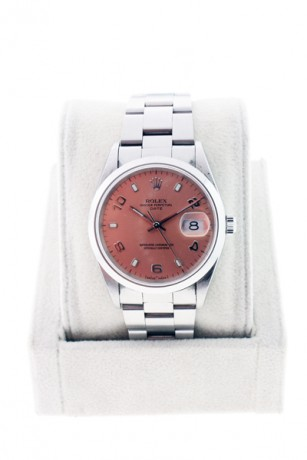 Rolex Date 15200 Stainless Steel Salmon Dial Oyster bracelet Watch