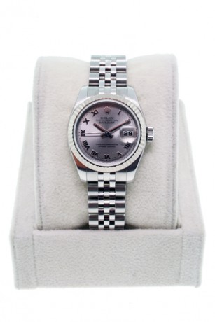 Rolex Datejust 179174 Ladies Stainless Steel Oyster Roman Numeral Dial