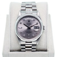Rolex Day Date Platinum 18206 double quickset with diamond dial