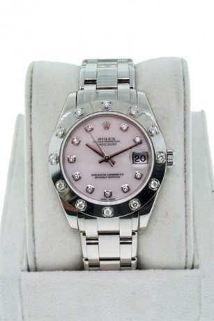 Rolex Masterpiece 81319 White Gold Mother of Pearl and Diamond Dial