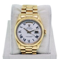 Rolex Day-Date Presidential 18K Yellow gold non-quick set white dial