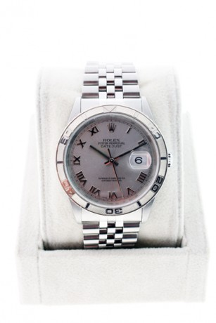 Rolex Datejust 16264 Turnograph watch with Rhodium Roman numeral dial