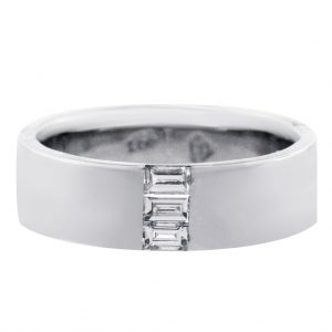 Diamond Mens Wedding Band