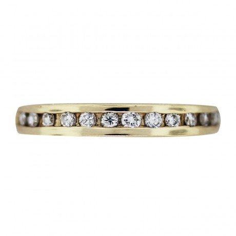 Pre-Owned 14K Channel Set Diamond Wedding/ Anniversary Band