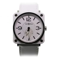 Pre-Owned Bell & Ross White Ceramic BR-S-98-W Unisex Watch