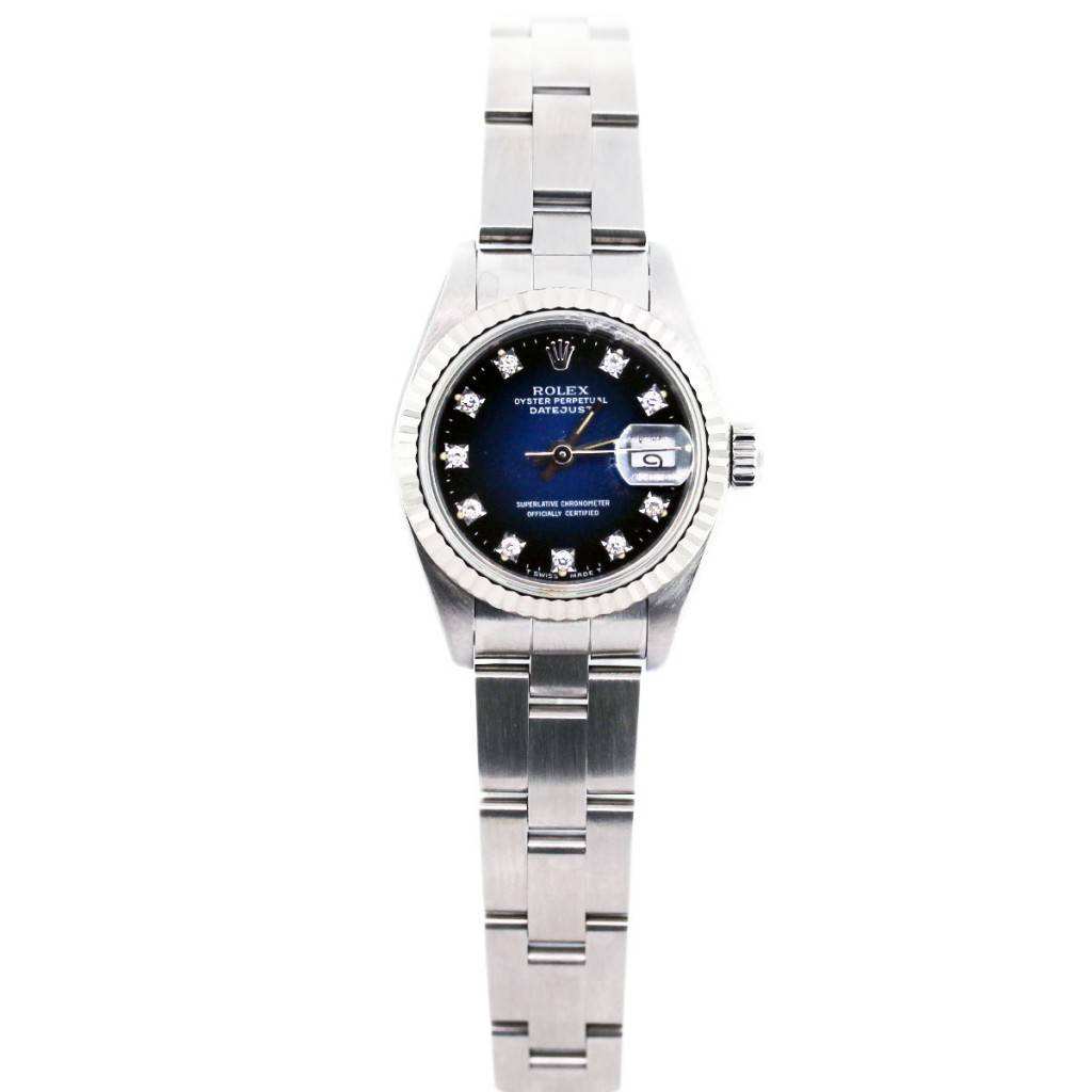 Rolex Datejust 69174 Stainless Steel and Diamond Dial ...