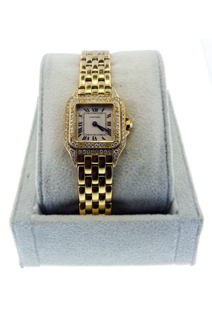 Cartier Panther 18kt Yellow Gold Diamond Ladies Watch