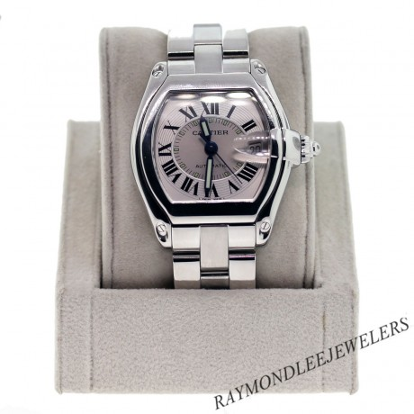 Pre-owned Cartier Roadster W62025V3 Stainless Steel Mens Watch