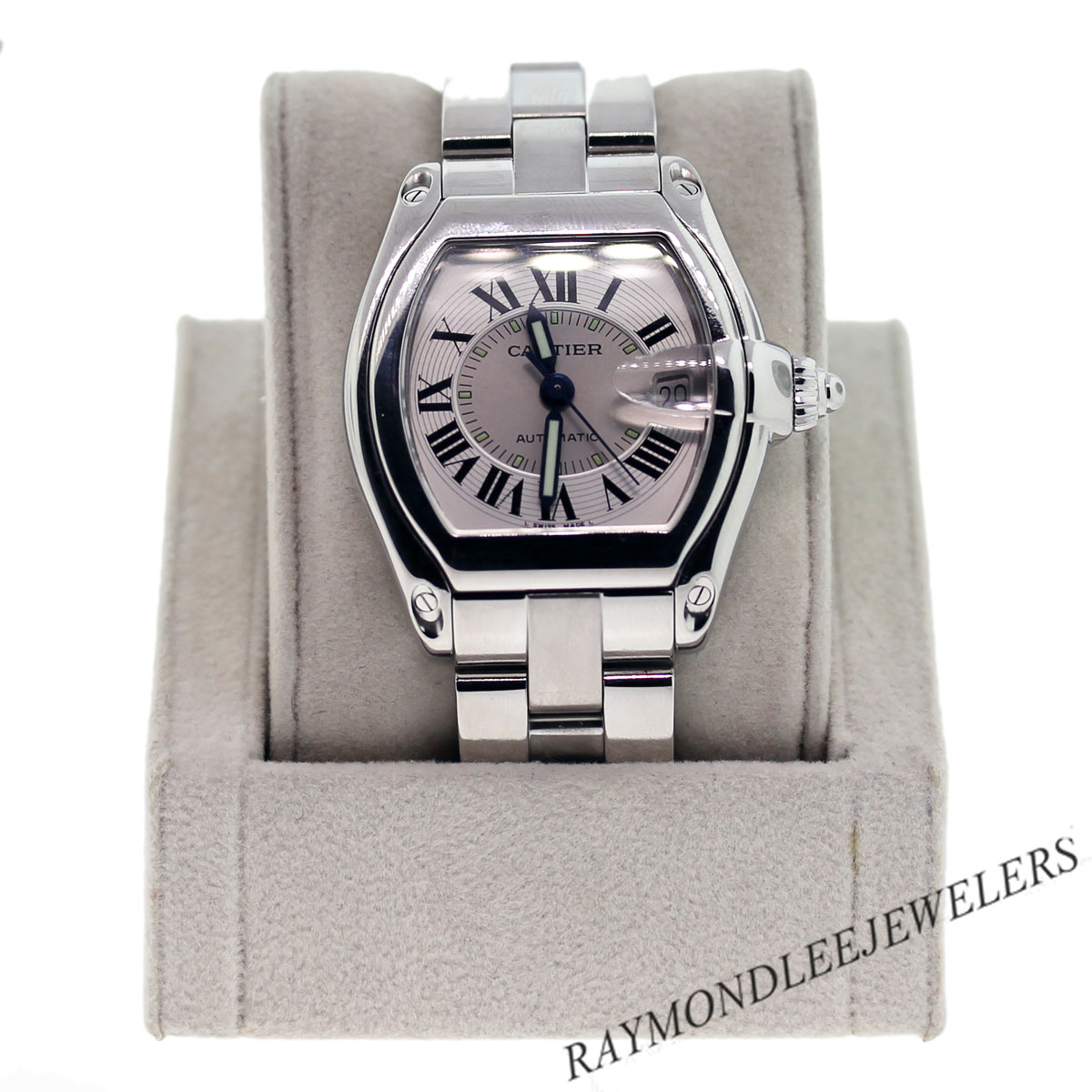 pre owned cartier roadster w62025v3 stainless steel mens