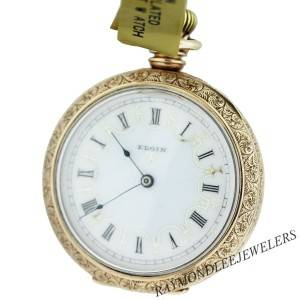 Pre-Owned Elgin Yellow Gold Filled Open Face Pocket Watch
