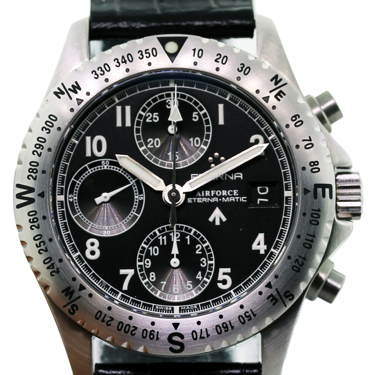 Eterna Chrono Airforce 8418 41 40 1106 Chronograph Men S Watch