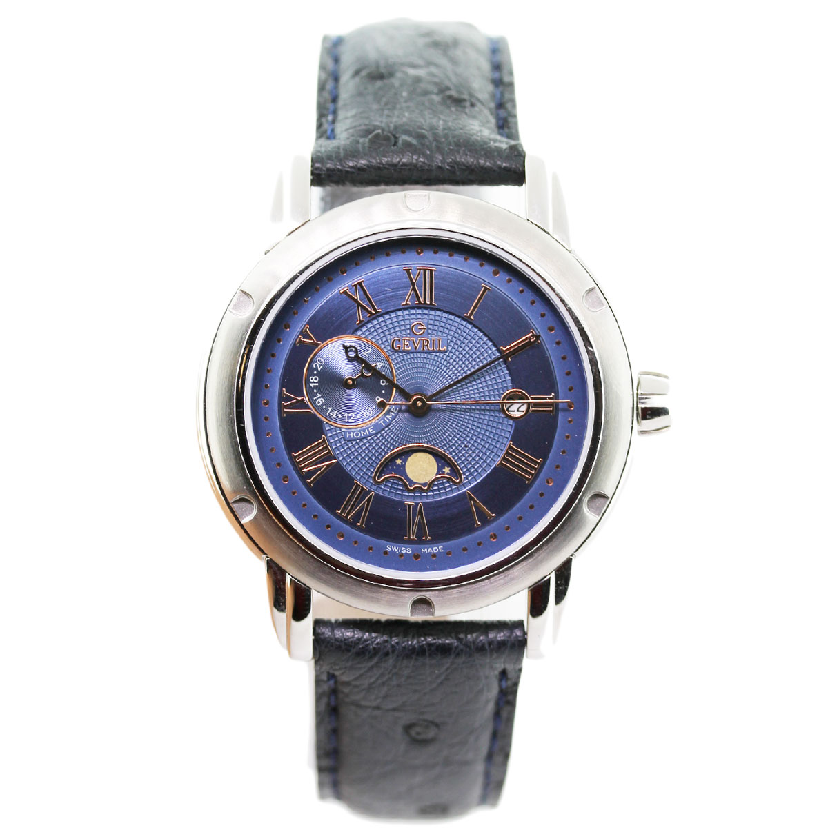 Gevril prime minister m0111r4l dual time zone men 39 s watch for Gevril watches