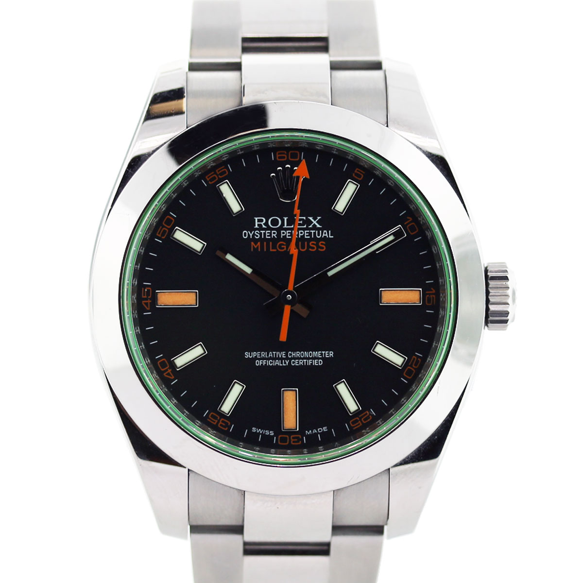 Rolex Milgauss 116400GV Green Crystal 50th Anniversary Edition