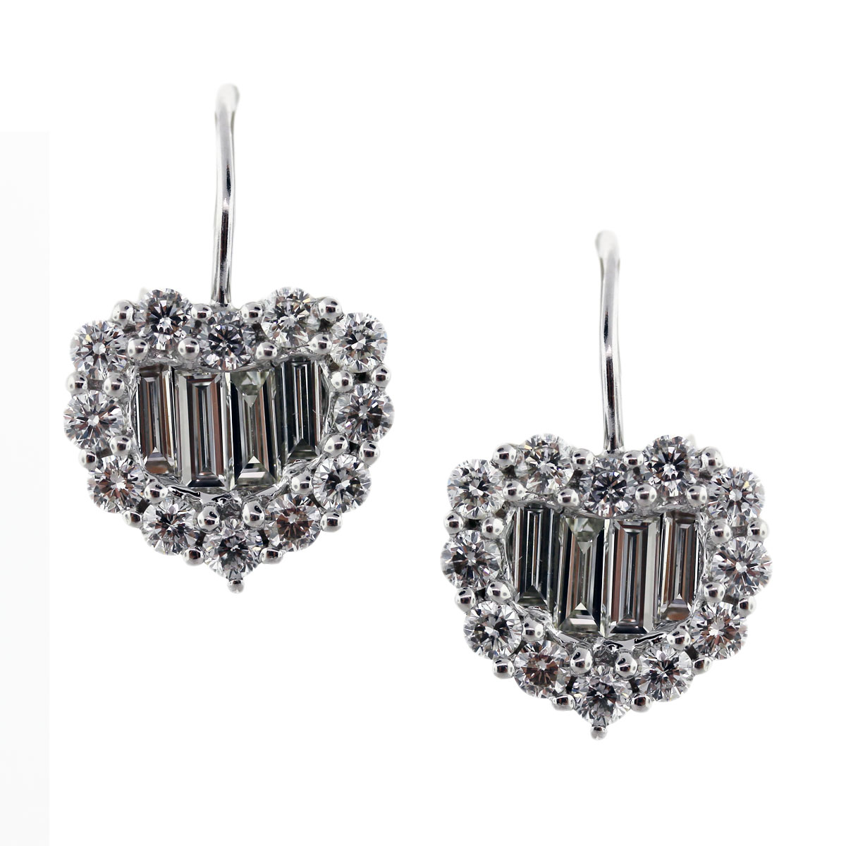 diamond heart earrings dangle