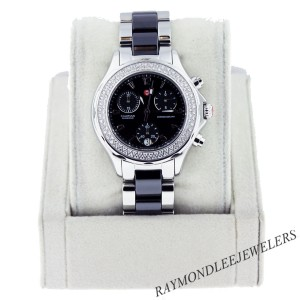 Michele Tahitian White Ceramic and Stainless Steel Ladies Watch