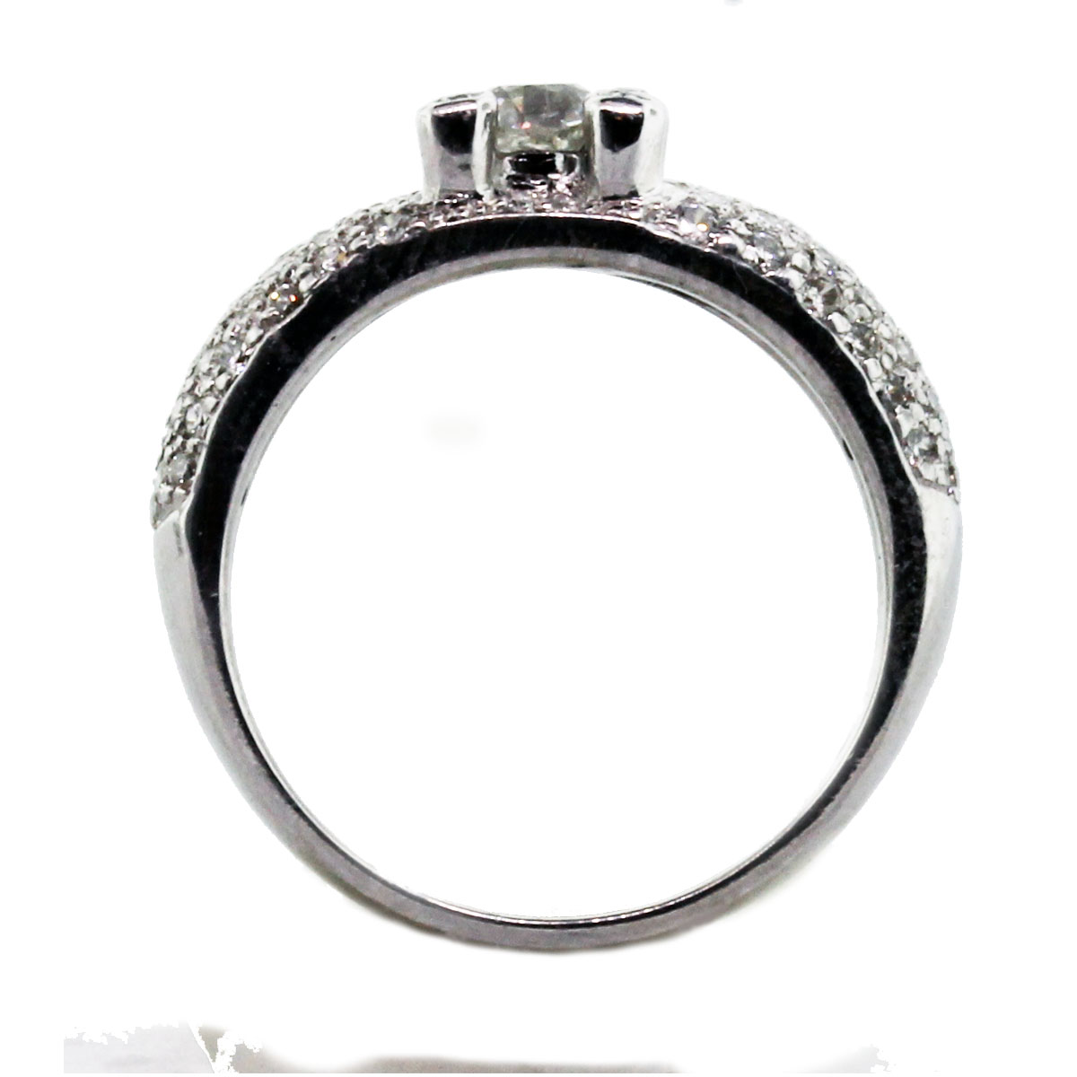 Half Carat Diamond Engagement Ring In 18k Pave Diamond. 3d Printed Rings. Ursula Rings. 4 Inch Rings. Love Cartier Rings. Oklahoma Rings. Pointed Wedding Rings. Sophisticated Wedding Wedding Rings. Exchange Engagement Rings
