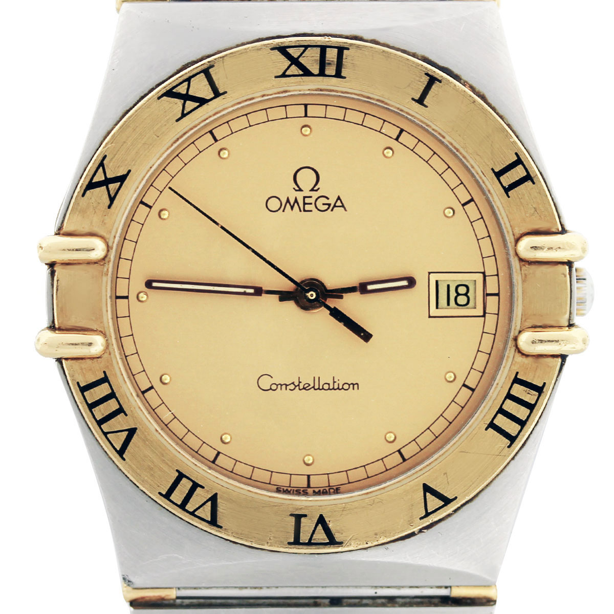 Omega constellation 18k yellow gold and stainless steel gents watch for Omega watch constellation