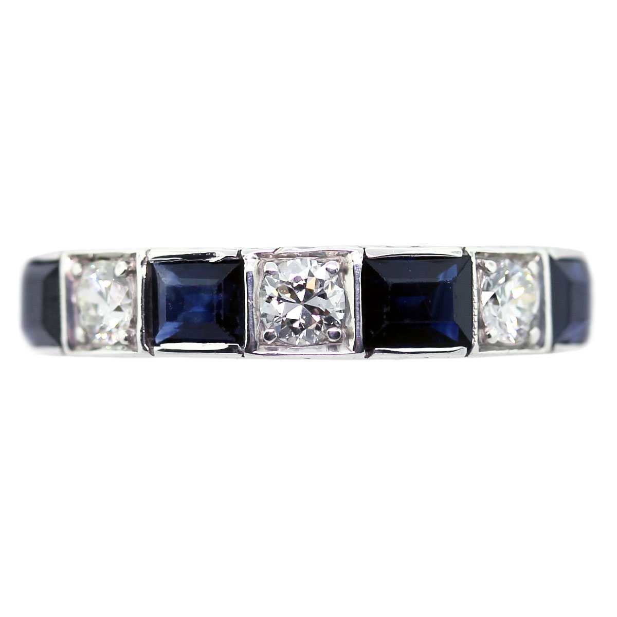 Vintage Diamond and Sapphire Eternity Band Boca Raton