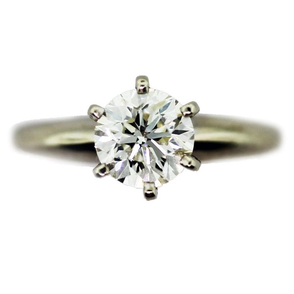 Preowned Wedding Rings: Pre-owned Engagement Ring 1ct White Gold