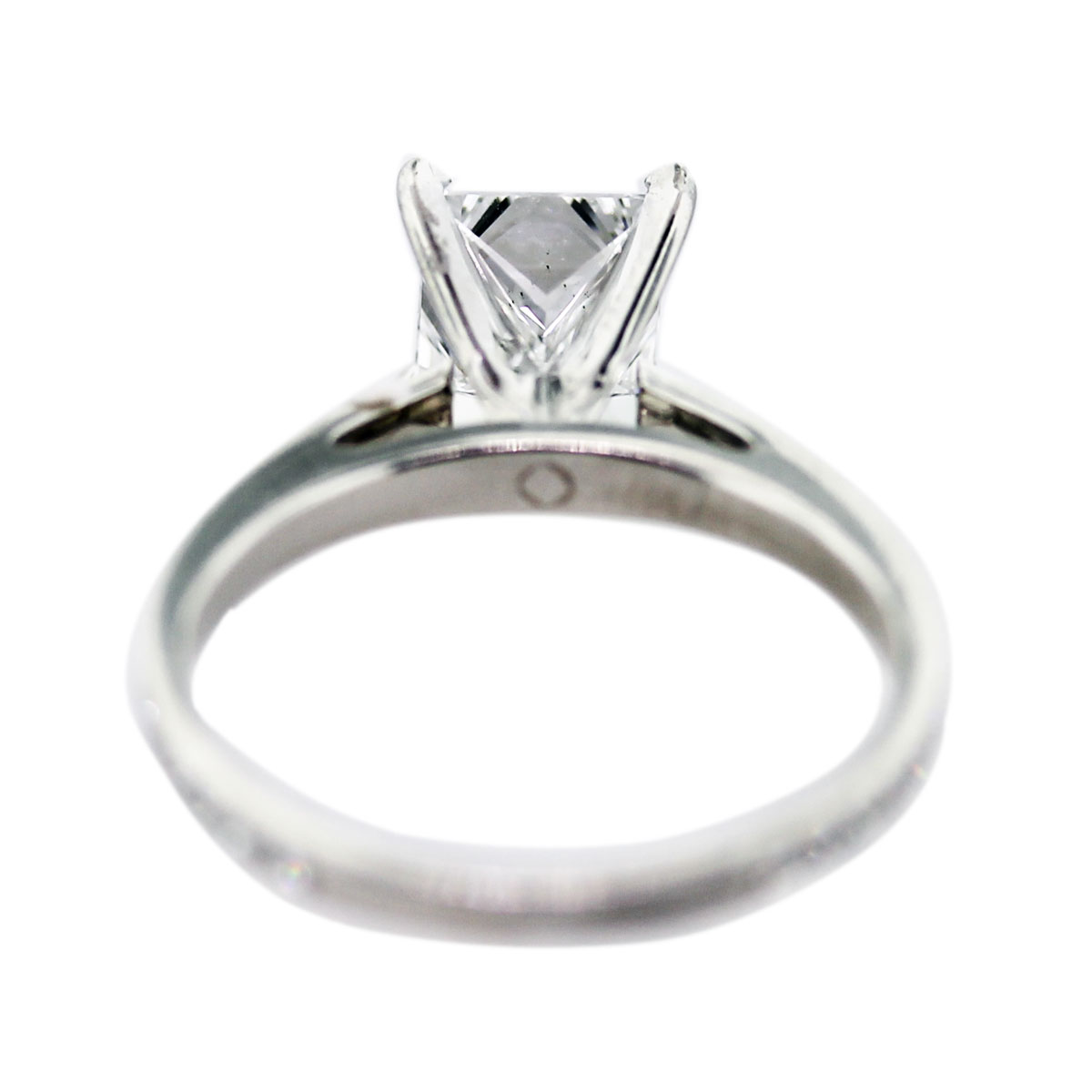 15 Carat Princess Cut Diamond Engagement Ring Back Of Ring