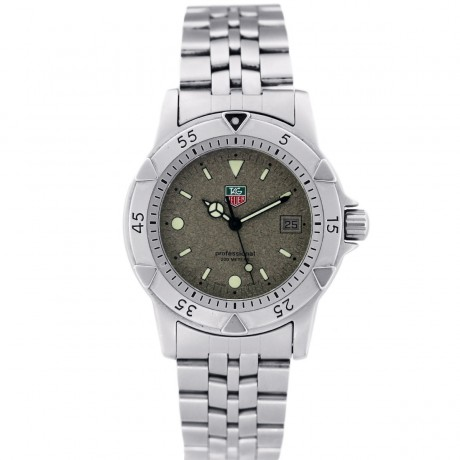 TAG Heuer WD1211 Professional Granite Dial Stainless Steel Watch