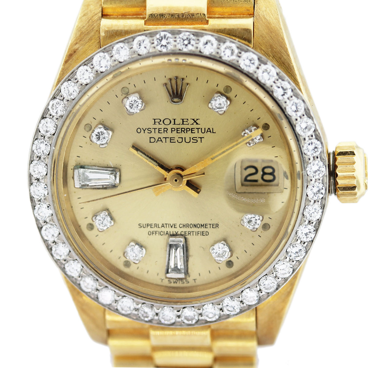 Rolex Datejust 6917 Presidential 18K Gold and Diamond ...