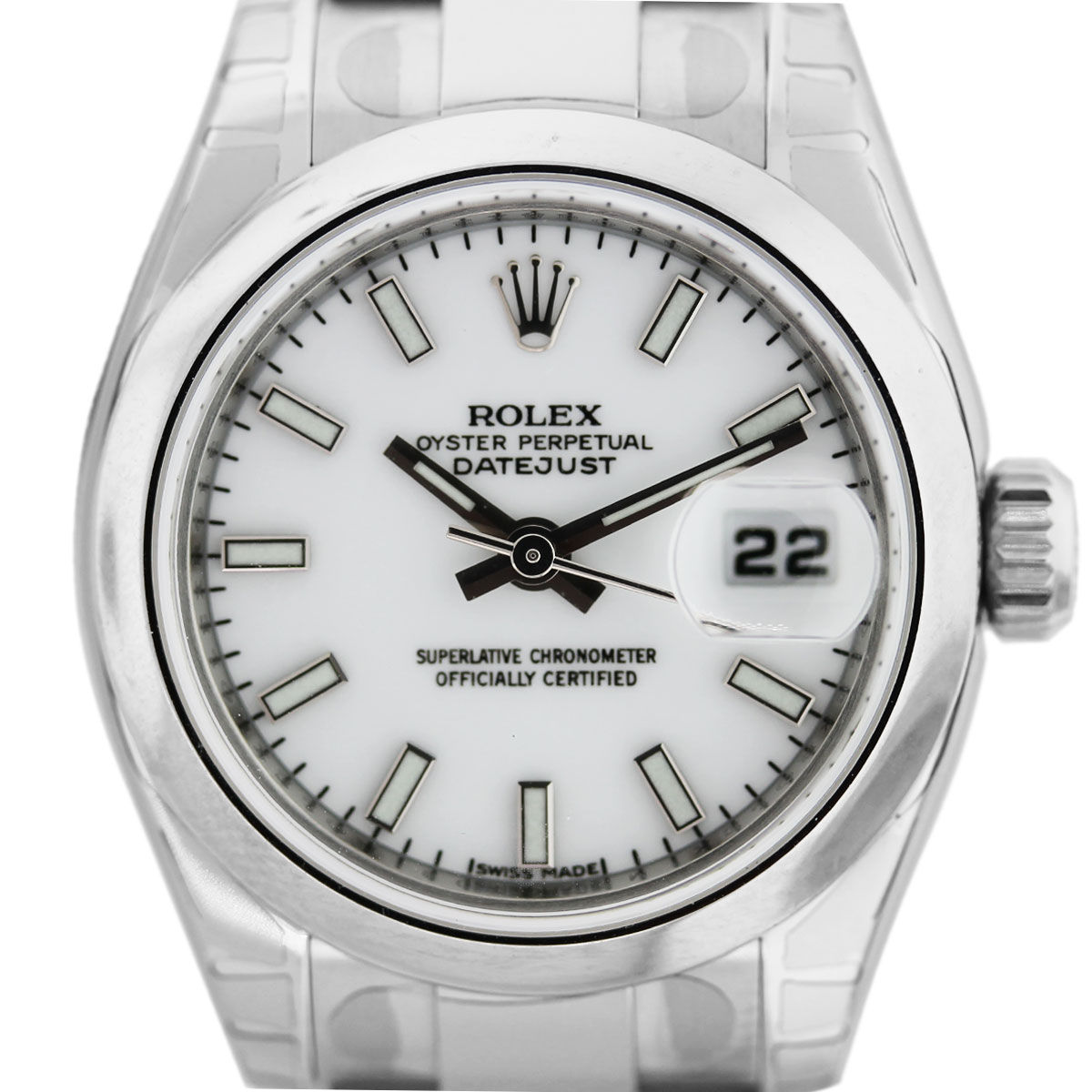 ladies rolex white dial