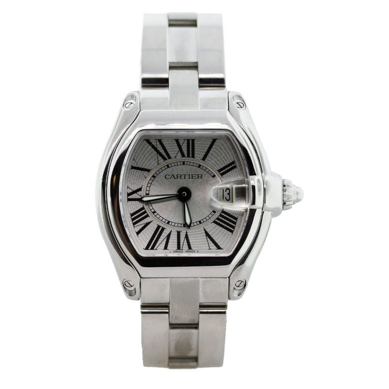 cartier roadster w62025v3 stainless steel mens